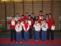 Фото команды с вице-президентом федерации каратэ Санкт-Петербурга СИГУНОВЫМ Андреем Викторовичем.